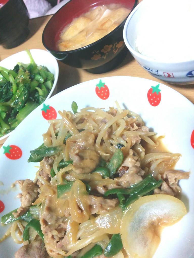 豚肉の野菜炒め みそ味