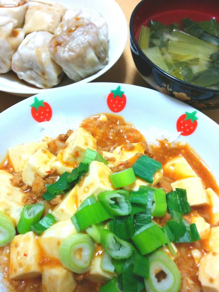 麻婆豆腐と焼売