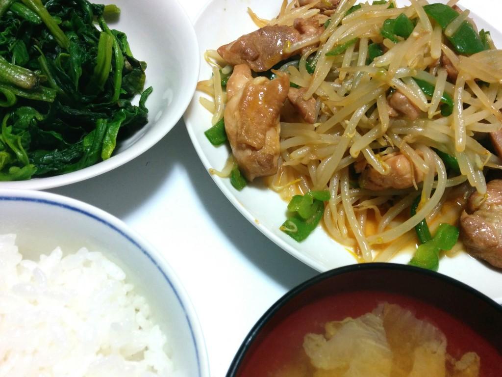 鶏肉の味噌野菜炒め